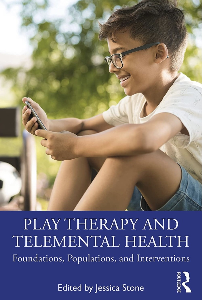 Book cover, a young boy holding a phone